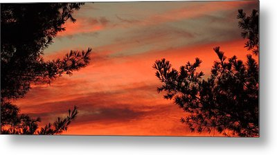Red Sky At Night Metal Print