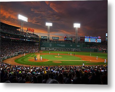 Red Sky Over Fenway Park Metal Print by Toby McGuire