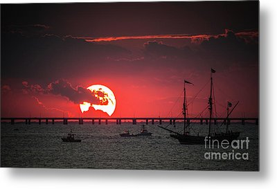 Red Sky Metal Print by Scott and Dixie Wiley