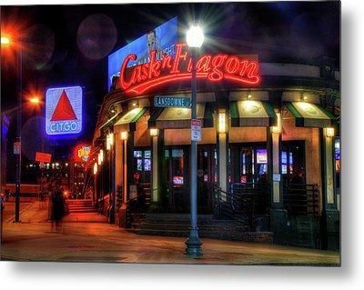 Red Sox Art - Cask N Flagon - Citgo Sign Metal Print by Joann Vitali