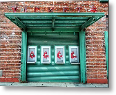 Red Sox Ticket Counter Metal Print