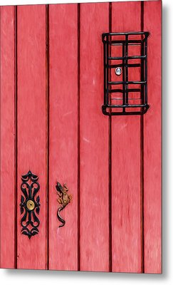 Red Speakeasy Door Metal Print