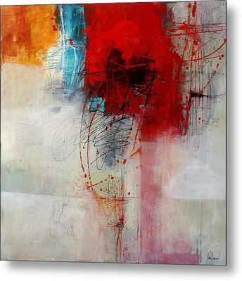Red Splash 1 Metal Print by Jane Davies