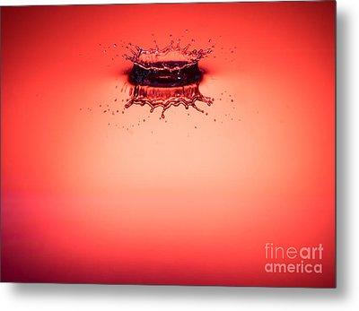 Red Splashdown 2 Metal Print