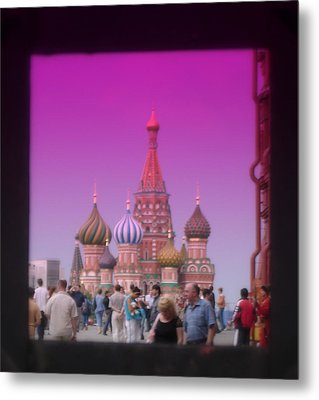 Red Square Peak Metal Print by Funkpix Photo Hunter