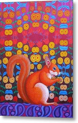 Red Squirrel Metal Print by Jane Tattersfield