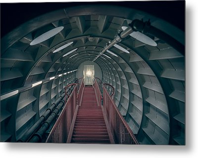 Red Stairs Metal Print by Chris Fletcher