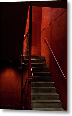 Red Stairs Metal Print