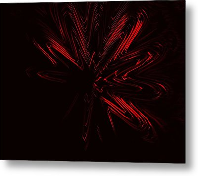 Red Star Metal Print by Contemporary Art