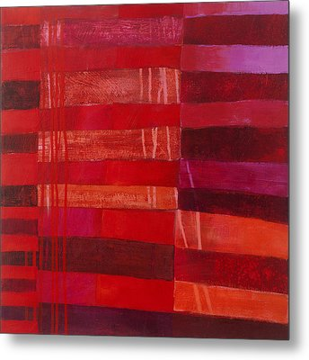 Red Stripes 2 Metal Print
