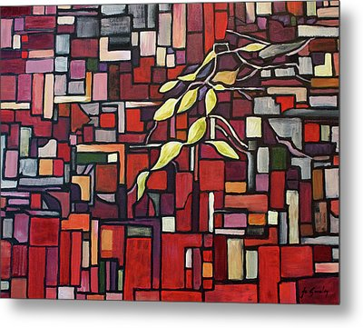 Metal Print featuring the painting Red Tango by Joanne Smoley