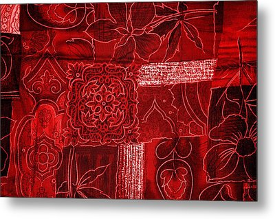 Red Tapestry Metal Print by Billy Soden