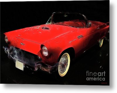 Red Thunder Metal Print by Wingsdomain Art and Photography