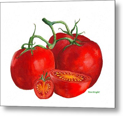 Red Tomatoes Metal Print by Nan Wright
