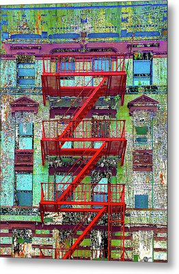 Metal Print featuring the mixed media Red by Tony Rubino