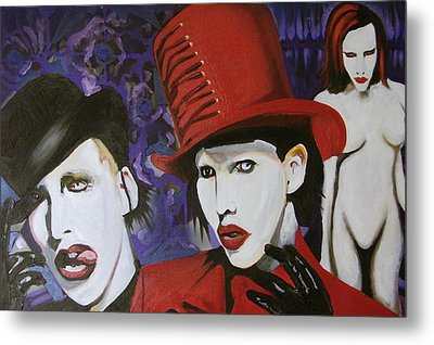 Red Tophat Metal Print by Ottoniel Lima