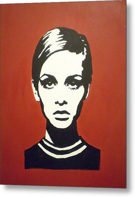 Red Twiggy Metal Print by Ruth Oosterman