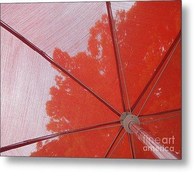 Red Umbrella Metal Print