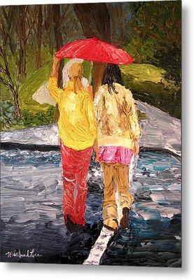 Red Umbrella Metal Print by Michael Lee
