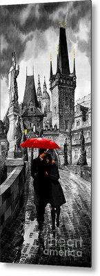 Red Umbrella Metal Print by Yuriy  Shevchuk