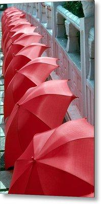 Red Umbrellas Metal Print by Douglas Pike