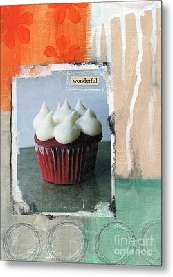 Red Velvet Cupcake Metal Print by Linda Woods