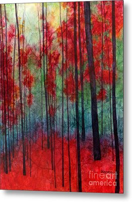 Red Velvet Metal Print by Hailey E Herrera