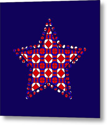 Red White And Blue Metal Print by Becky Herrera