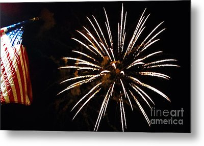 Red White And Blue Metal Print by Gina Sullivan