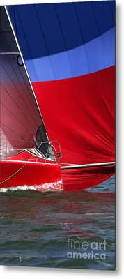 Red White Blue And Water Metal Print by Sandy Byers