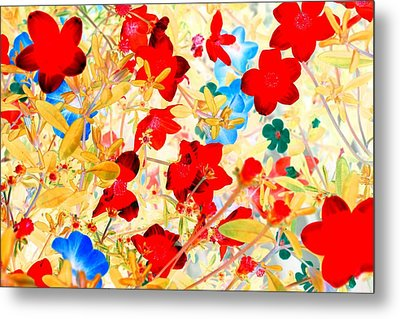 Metal Print featuring the photograph Red Wild Flowers by Marianne Dow