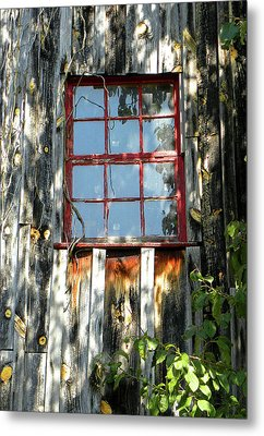 Metal Print featuring the photograph The Red Window by Sandi OReilly