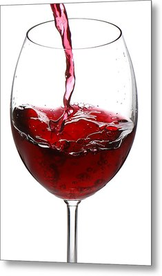 Red Wine Metal Print by Jaroslaw Grudzinski