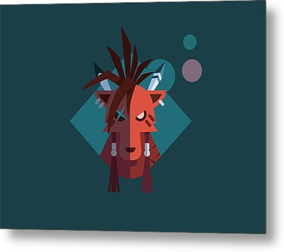 Metal Print featuring the digital art Red Xiii by Michael Myers