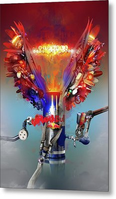 Redbull Gives You Wings Metal Print