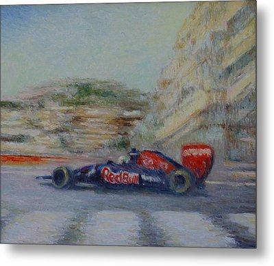 Redbull Racing Car Monaco  Metal Print