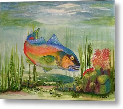 Rainbow Fish Metal Print