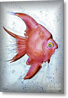 Metal Print featuring the mixed media Redfish by Walt Foegelle