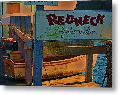 Redneck Yacht Club Metal Print