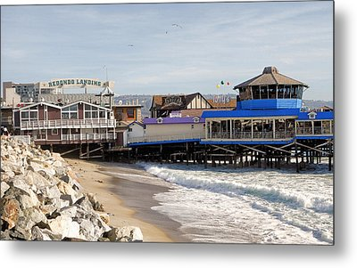 Redondo Beach Pier Shopping Metal Print