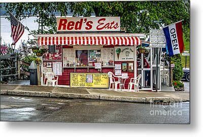 Red's Eats Metal Print by Jerry Fornarotto