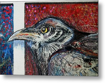 Red,white ,blue Metal Print by Susan Brown    Slizys art signature name