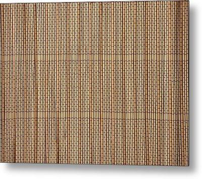 Reed Lining Texture Metal Print by Miroslav Nemecek
