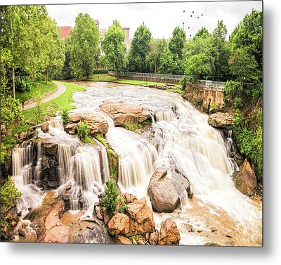 Metal Print featuring the photograph Reedy River Falls Greenville Sc by Bellesouth Studio