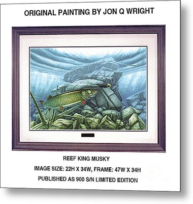 Reef King Musky Metal Print
