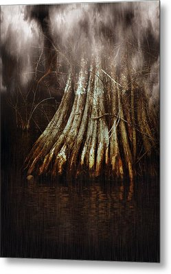 Reelfoot In Gentle Rain Metal Print by Julie Dant