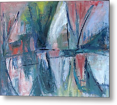Reflections On Sails And Canvas Metal Print by Betty Pieper