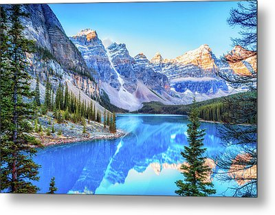 Reflect On Nature Metal Print by James Heckt