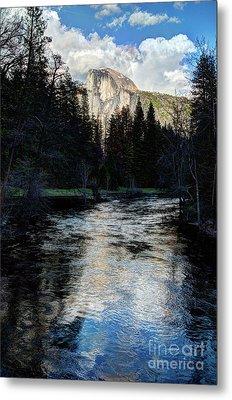 Reflectance Of Half Dome In Yosemite Metal Print