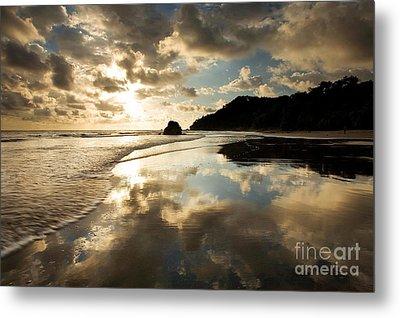Reflected Costa Rica Sunset Metal Print by Matt Tilghman